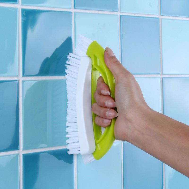 brosse entretien salle de bain 2 en 1