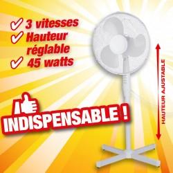 Ventilateur sur pieds diamètre 40 cm