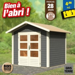 outiror Abri jardin Talkau3 Gris terre 207601210002