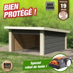 outiror Abri tondeuse robotisee2 gris terre 207601210041