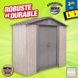 outiror Abri metal WoodTouch 2 54m 207601210046