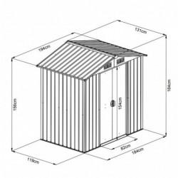 outiror Abri metal WoodTouch 2 54m 207601210046 4