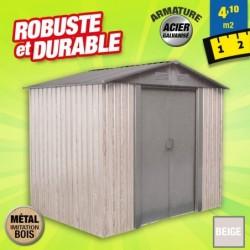 outiror Abri metal WoodTouch 4 1m 207601210047