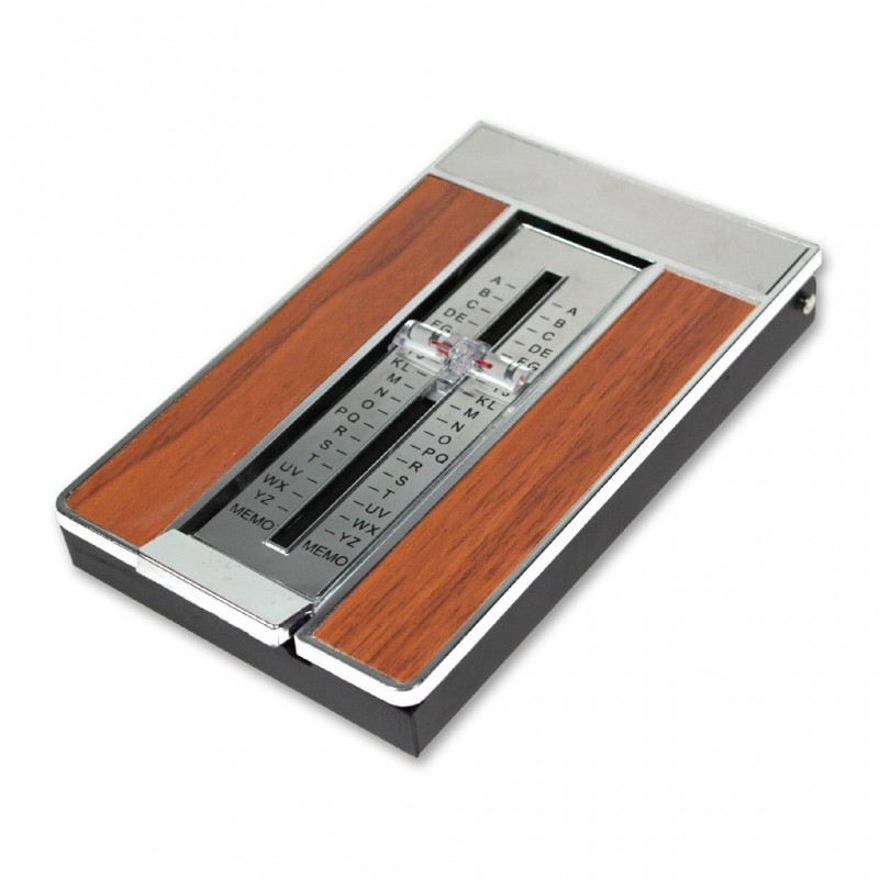 Répertoire téléphone Vintage bois