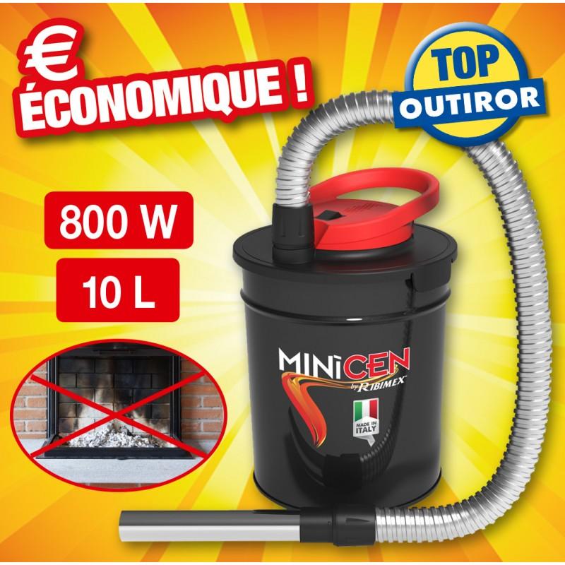 Aspirateur à Cendres électrique Minicen 800w Bidon 10l
