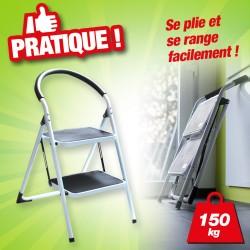 Chaise/Escabeau Acier 2 marches