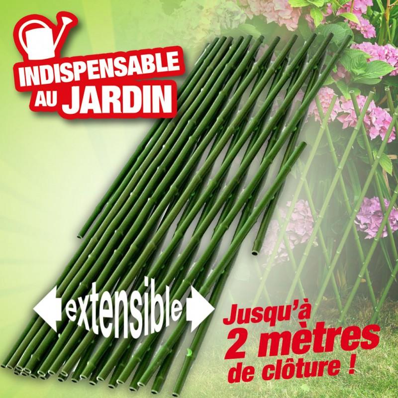 palissade imitation bambou