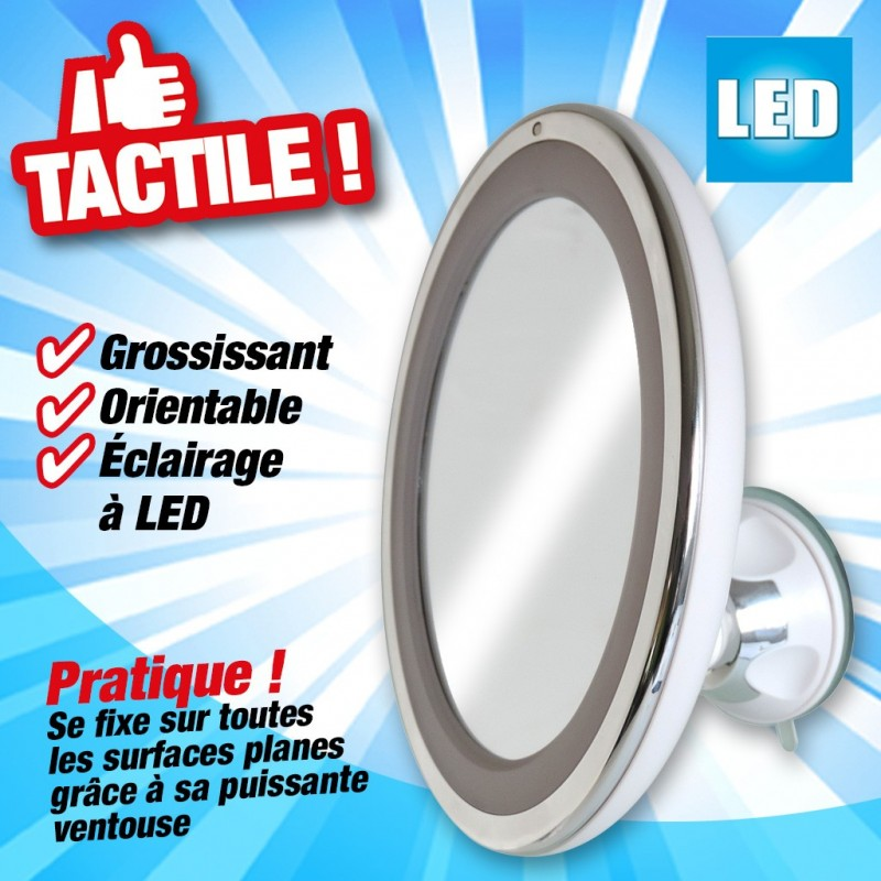 outiror-miroir-grossissant-LED-tactile-23464-A; outiror-miroir-grossissant-LED-tactile-23464-B