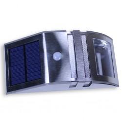 Lampe Veilleuse et spot solaire Inox