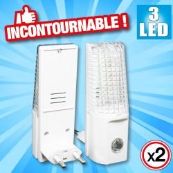 outiror : 2-lampes de nuit 3 leds
