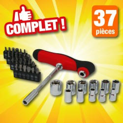 outiror : ensemble de 37 outils et embouts de vissage