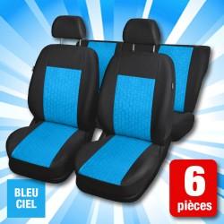 outiror : housses de sieges bleu clair 6 pieces