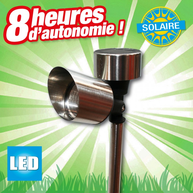 Lampe De Jardin Solaire Outdoor Lights Ampoule Led 1 Pc S