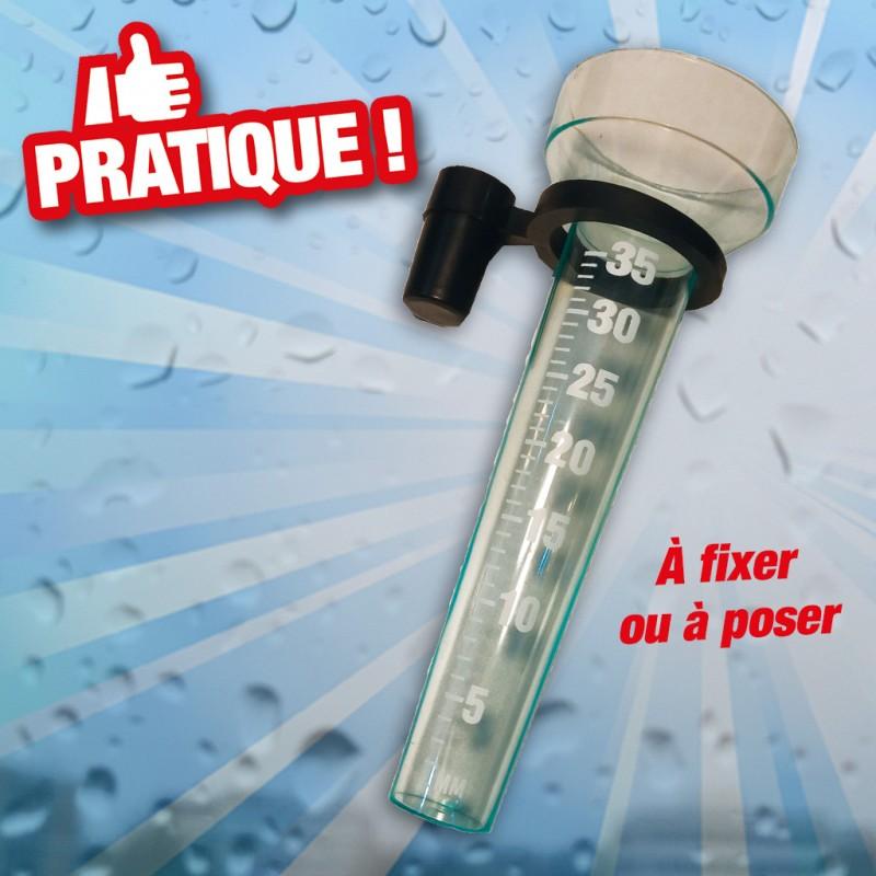 outiror : pluviometre pvc a fixer