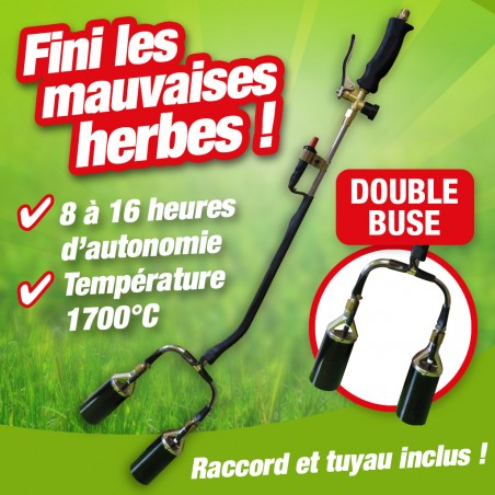 outiror : desherbeur thermique double buse avec accessoires