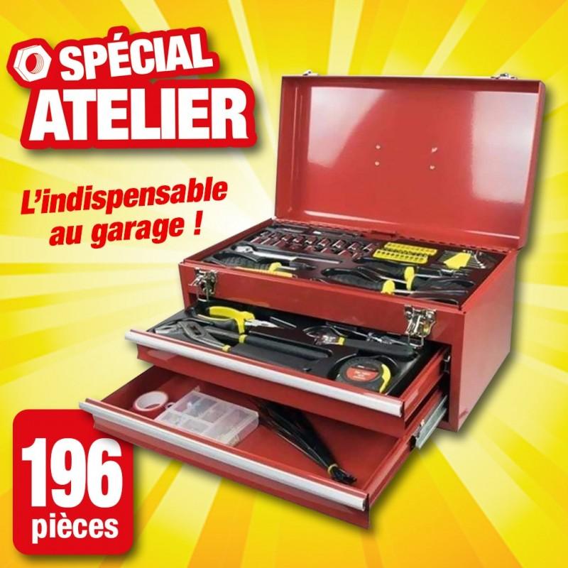 outiror boite a outils 196 pieces 75010180002