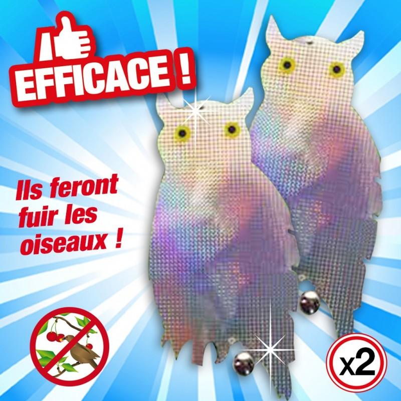 outiror hibou epouvantail reflechissant anti oiseaux 71010180004