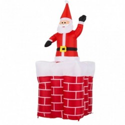 outiror pere noel gonflable dans cheminee 76010180011_2