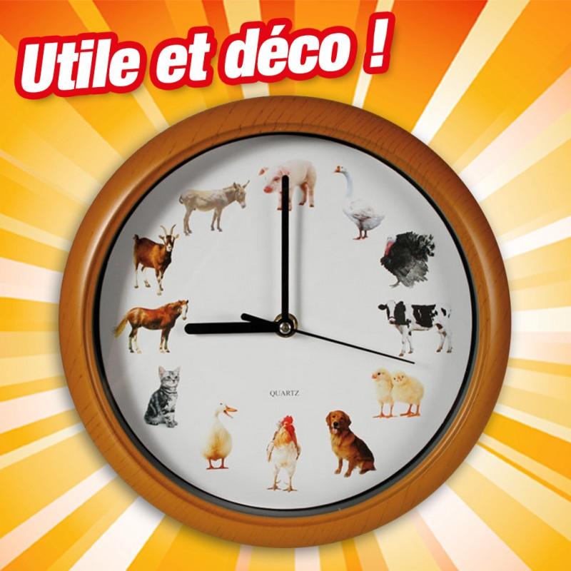 outiror - horloge murale motif animaux