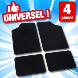 outiror - set de 4 tapis voiture noir