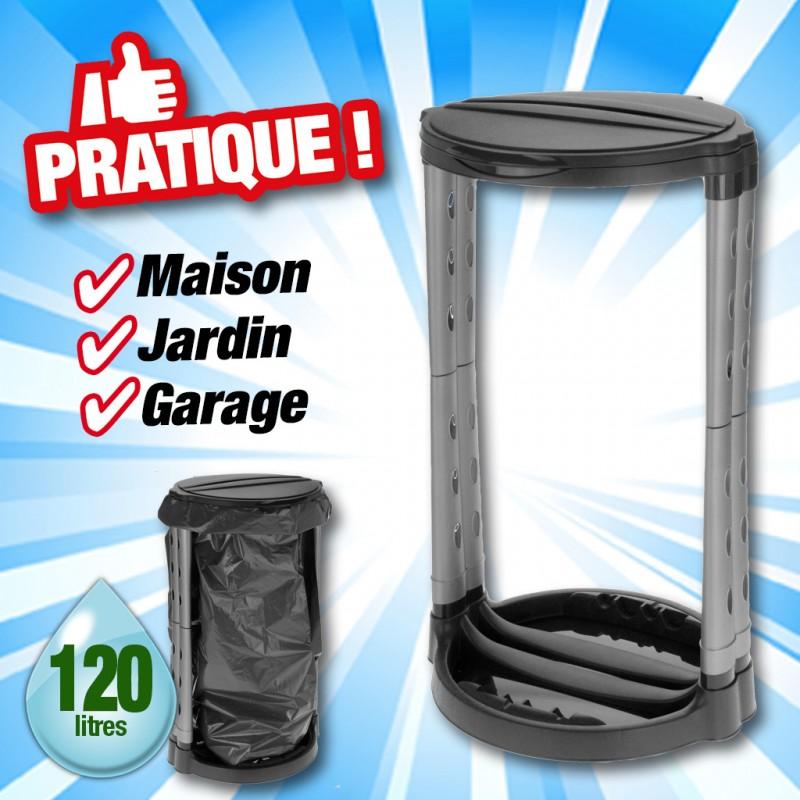 outiror - porte sac poubelle 120 litres