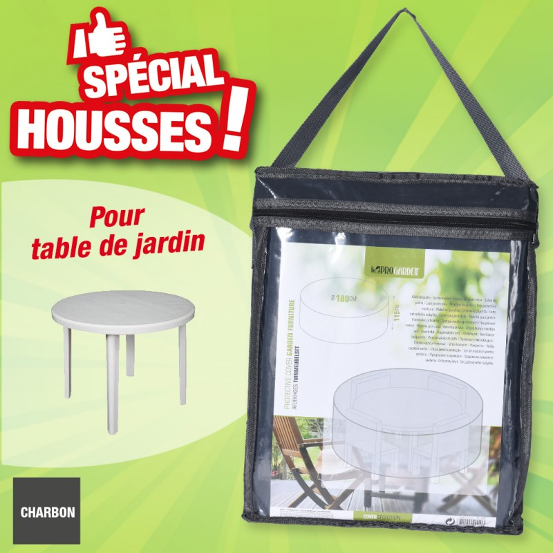 Housse de protection table ronde - Diamètre Ø 180 cm x H 115 cm