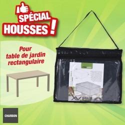 outiror - housse protection table rectangulaire
