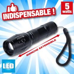 outiror - lampe de poche 16cm à piles