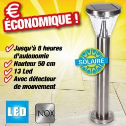 outiror - Lampe solaire - hauteur 50cm à fixer au sol