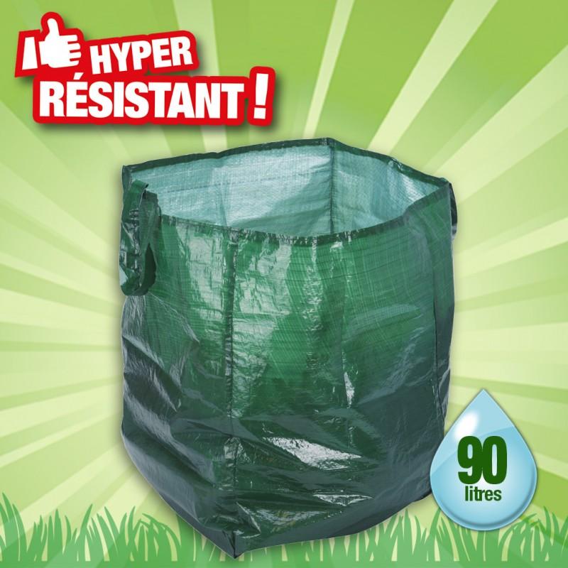 outiror - sac à déchets pour le jardin 90l