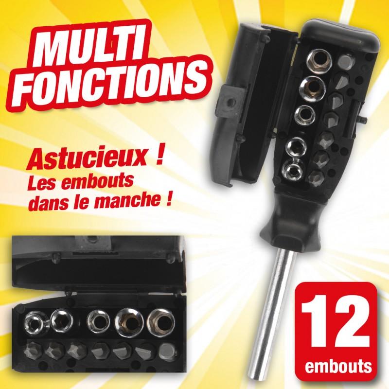 outiror - tounevis multifonction avec 12 embouts