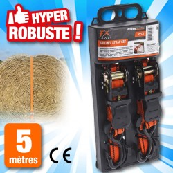 outiror - lot de 2 sangles, orange avec fixation