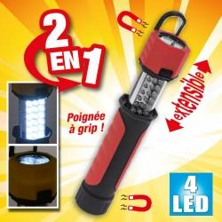 outiror - lampe torche 2 en 1 4 led avec aimant