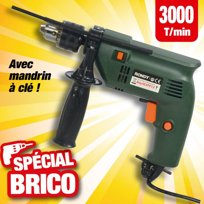 outiror perceuse electrique rdy 501pp 3000tr/min avec mandrin a cle 13 mm 135011180004