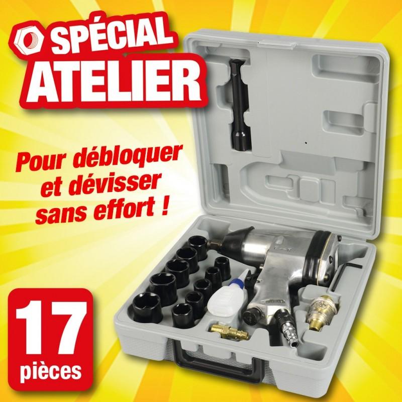 outiror coffret cle a choc pneumatique 17 pieces 134011180024