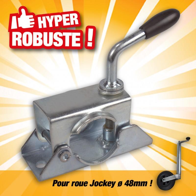 outiror bride de fixation pour roue jockey dia 48mm