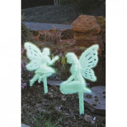 elfes deco jardin phosphorescents par 2