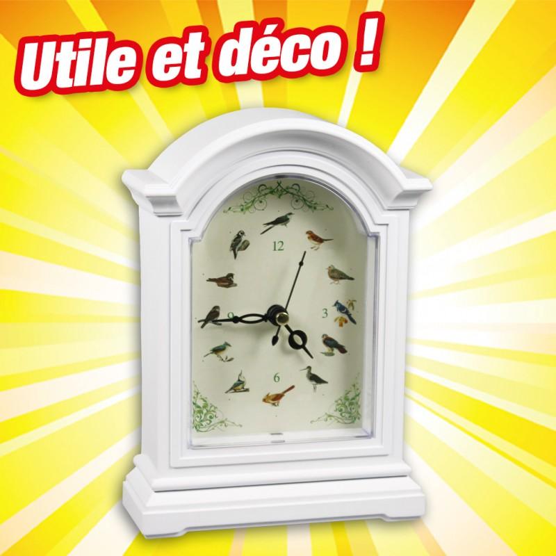 """Horloge Déco """"Chants d'oiseaux"""""""