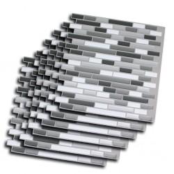 Outiror - Carrelage Adh 25x25cm - Gris Mosaic 02