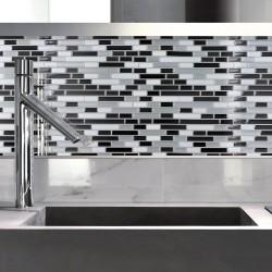 Outiror - Carrelage Adh 25x25cm - Gris Mosaic 04