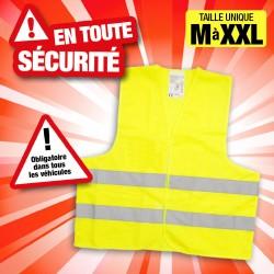 OUTIROR - Gilet de sécurité taille unique M-XXL jaune