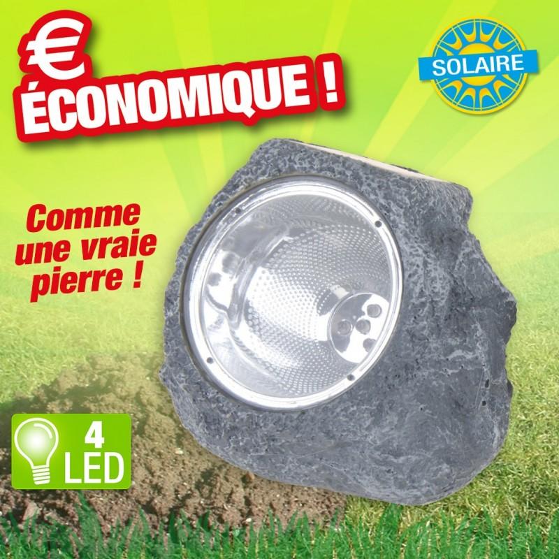 lampe solaire resine - 4led dia 8.5cm