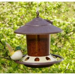 mangeoire à oiseaux à suspendre marron