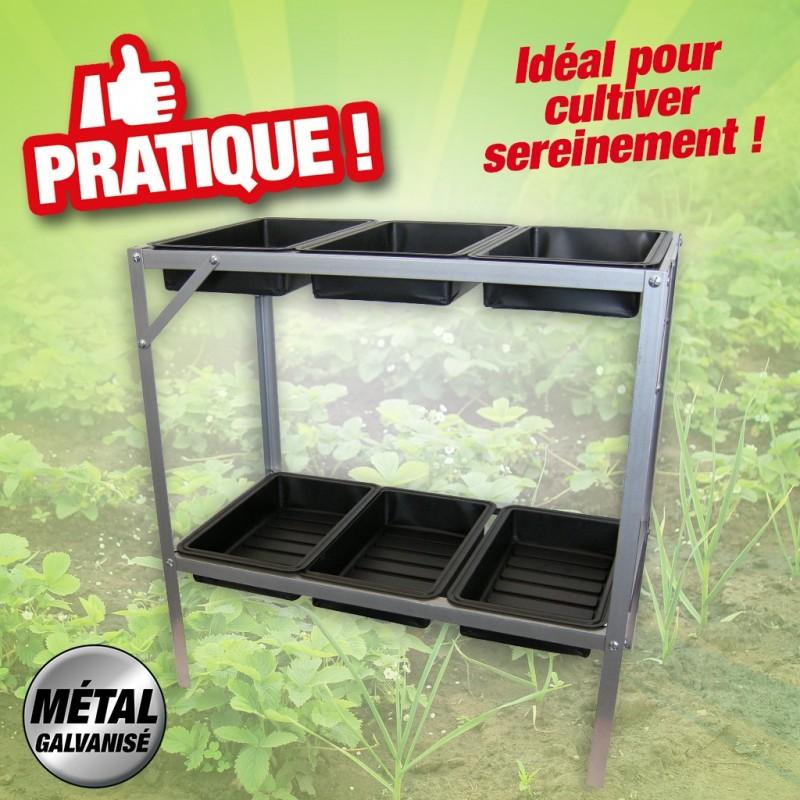 Table Pour Semis Et Bouturage Metal Galvanise Equipement De La