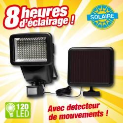 Projecteur solaire 120 LED