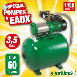 Outiror - pompe surpresseur 60l + pompe multi-cellulaire 5 turbines