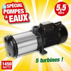 Outiror - pompe surface multicellulaire 5 turbines inox triphasee