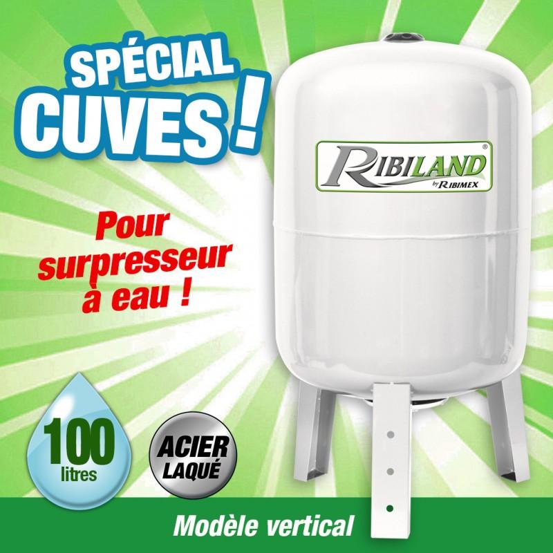 """Outiror - cuve verticale 100l 1"""" pour surpresseur"""