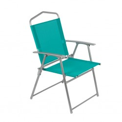 Chaise camping 56x92cm bleue