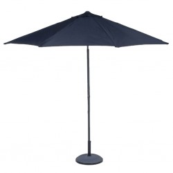 Parasol avec manivelle noir diamètre 3m